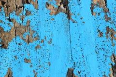 木被风化的蓝色被绘 免版税库存照片
