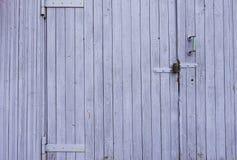 木被绘的墙壁背景 免版税库存照片