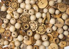 木裁缝按钮 库存图片