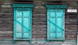 木视窗 库存照片