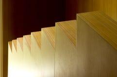 木详细资料现代的台阶 免版税库存照片