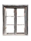 木谷仓老的视窗 免版税图库摄影