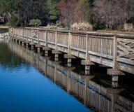 木走的桥梁 免版税图库摄影