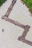 木路在禅宗石头庭院里在日本庭院里 免版税库存图片