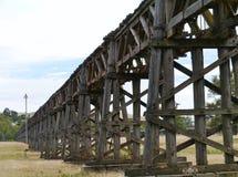 木路轨高架桥在Gundagai 免版税图库摄影