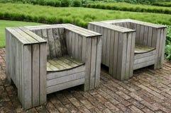 木车顶上的座位-英国英国 免版税图库摄影