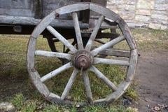 木轮子特写镜头 库存图片