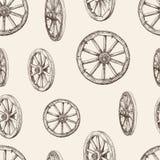 木轮子的样式 免版税库存图片