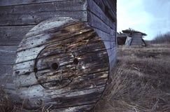 木轮子 图库摄影