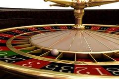 木轮盘赌的赌轮 免版税库存照片