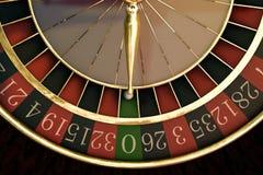 木轮盘赌的赌轮 免版税库存图片