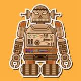 木逗人喜爱的机器人传染媒介设计 库存照片