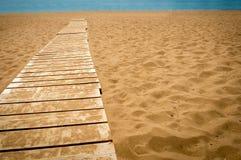 木道路向海 库存图片