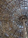木遮阳伞作为背景 库存照片