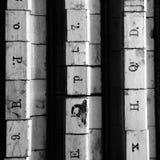 木邮票字母表 库存图片