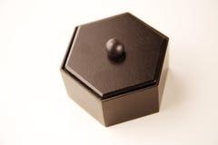 木配件箱的六角形 免版税库存照片
