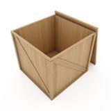 木配件箱的容器 免版税库存照片