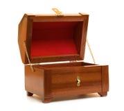 木配件箱的珠宝 免版税库存照片