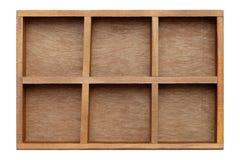 木配件箱的盘 免版税库存图片