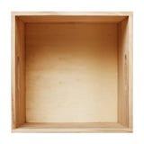 木配件箱 免版税库存照片