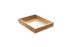 木配件箱 图库摄影