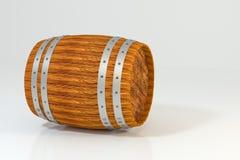 木酿酒厂桶有白色背景,3d翻译 库存例证