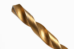木钻位金黄钻眼工人的查询 免版税库存照片