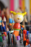 木铅笔玩偶 免版税图库摄影