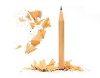 木铅笔的削片 免版税库存图片
