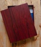 木铅笔盒 免版税图库摄影