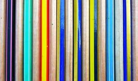 木铅笔背景 免版税库存照片