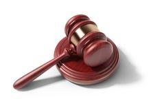 木锤子。法律概念。3D象  免版税库存图片