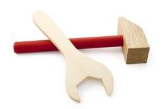 木锤子和板钳 库存图片