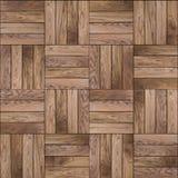 木镶花地板。无缝的纹理。 库存图片