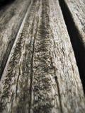 木长凳的特写镜头 库存照片