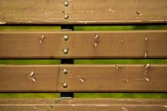 木长凳纹理特写镜头射击 库存图片