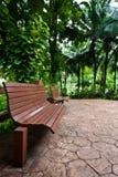 木长凳 免版税库存照片