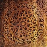 木门的装饰品 免版税库存照片