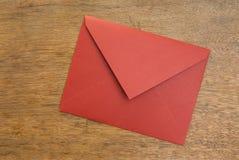 木闭合的信包的表 库存图片