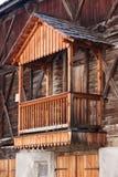 木阳台 库存图片