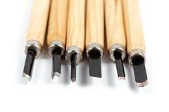 木雕刻刀刀子 图库摄影