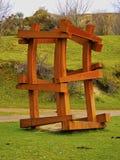 木雕塑在毕尔巴鄂附近的Arboleda 库存图片