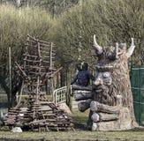 木雕塑 免版税图库摄影