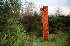 木雕塑 库存图片