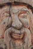 木雕象的面孔 库存照片