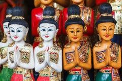 木雕刻泰国妇女 图库摄影