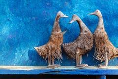 木雕刻的鸭子 免版税图库摄影