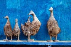 木雕刻的鸭子 免版税库存照片
