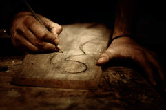 木雕刻 免版税库存照片