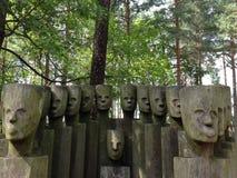 木面孔 免版税图库摄影